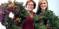 Workshop with Wine: Holiday Wreaths