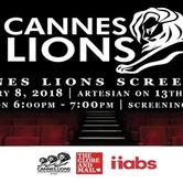 Cannes Lions Regina Screening 2018