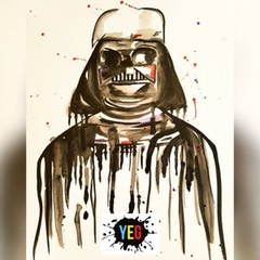 Star Wars - Darth Vader Watercolour painting