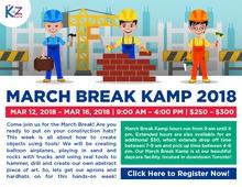 March Break Kamp 2018