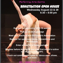 Dance Theatre Performing Arts Centre Registration Open House
