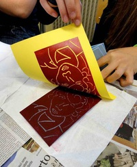 Holiday Card Printmaking for Kids in SE PDX