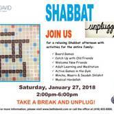 Shabbat Unplugged 2018