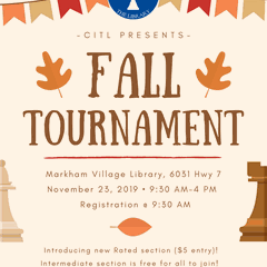 Chess in the Library Fall Tournament