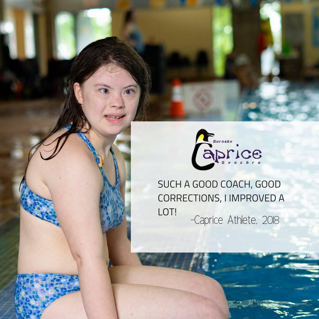 attraktiv und langlebig gutes Angebot das Neueste Caprice Artistic Swim Club