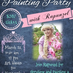 Story and Paint with Princess Rapunzel