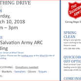 SPRING CLEAN Clothing Drive