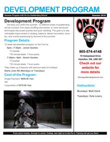 Goalie Development Program