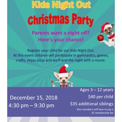 Kids Night Out, Parents Night Off Christmas Party