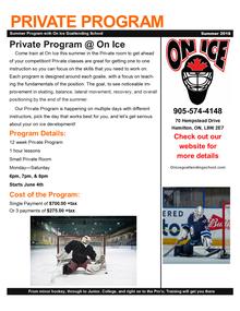 Goaltender Private Program