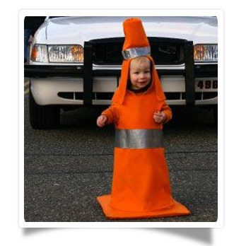 safety first on halloween just dress your kid up as a traffic cone and the night can be stress free gotta be the safest costume going